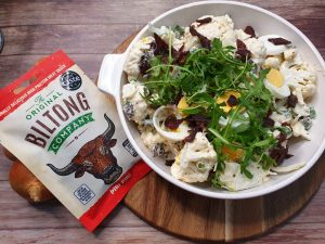 Mock Potato Salad with biltong