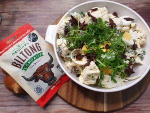 Mock Potato Salad with biltong