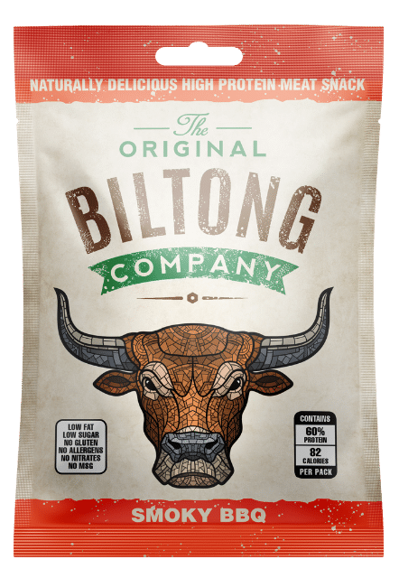 Smoky BBQ Biltong snack bag 30g