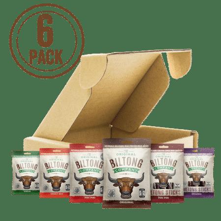 Variety Biltong Taste Box - 6 bags of biltong.